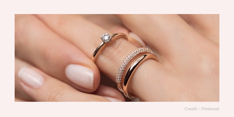 How To Wear Your Engagement Wedding And Eternity Rings